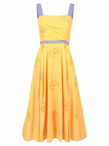 Carolina Herrera floral brocade mid dress - Yellow