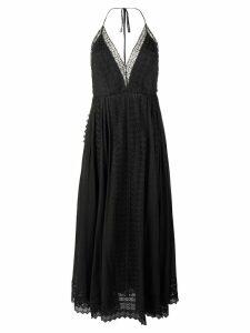 Charo Ruiz plunge halter maxi dress - Black