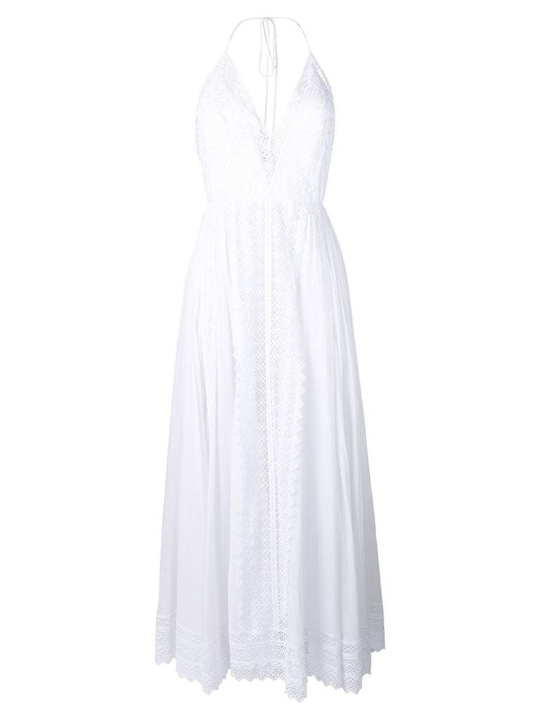 Charo Ruiz plunge fluid maxi dress - White