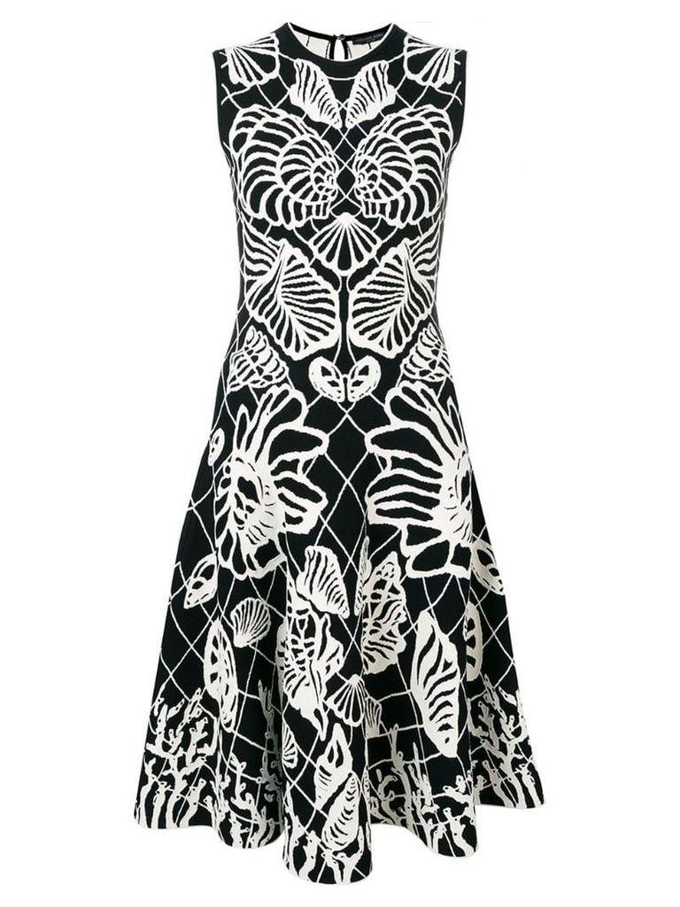 Alexander McQueen Spine Shell midi dress - Black