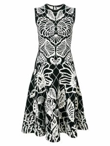Alexander McQueen Spine Shell midi dress - Black