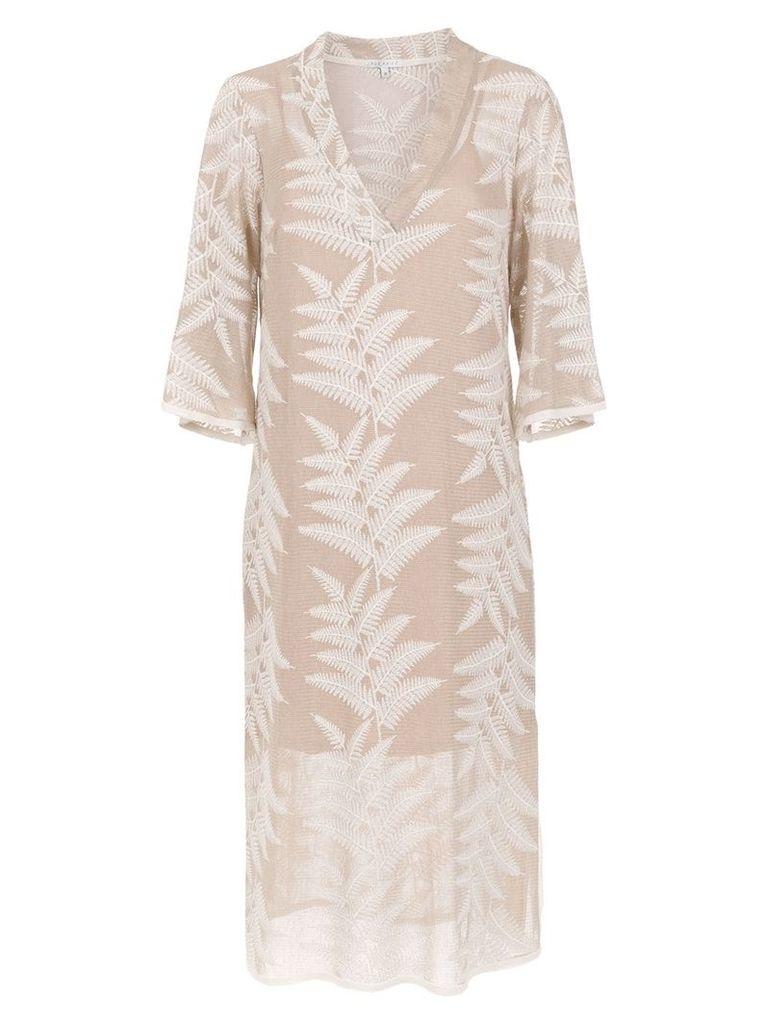 Alcaçuz midi Flamboyant dress - Neutrals