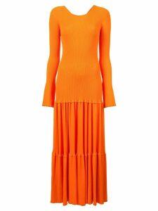 Carolina Herrera pleated knit dress - Yellow