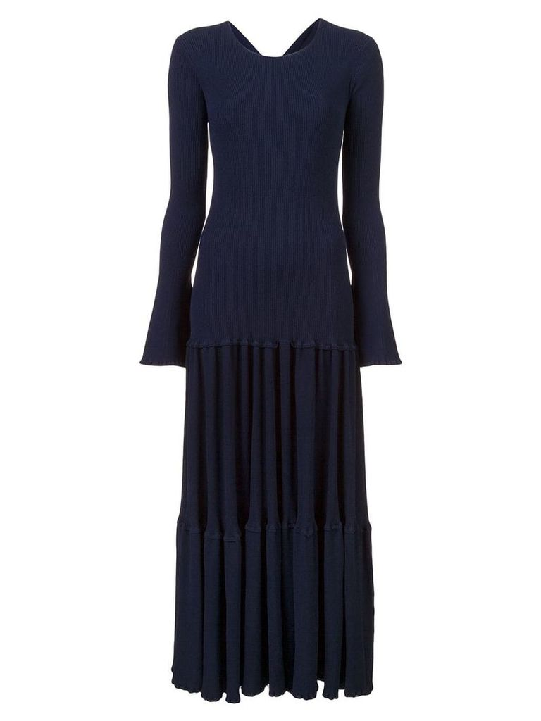 Carolina Herrera pleated knit dress - Blue