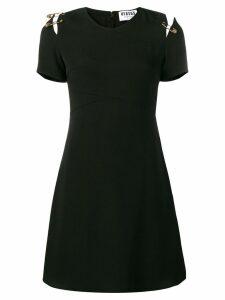 Versus v-neck safety pin dress - Black