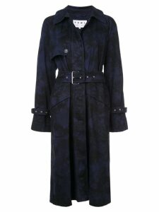 Proenza Schouler PSWL Bleach Dye Trench Coat - Black