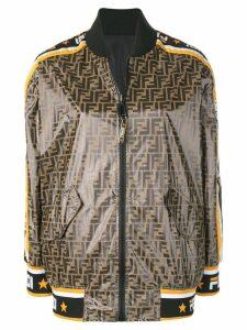 Fendi Fendi Mania print bomber jacket - Brown