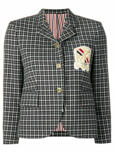 Thom Browne Windowpane School Uniform Sport Coat - Blue
