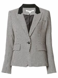 Veronica Beard houndstooth blazer - Black