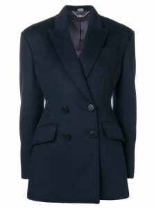 Alexander McQueen double-breasted blazer - Blue