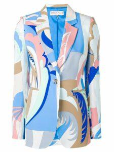 Emilio Pucci Acapulco Print Single-breasted Blazer - Blue