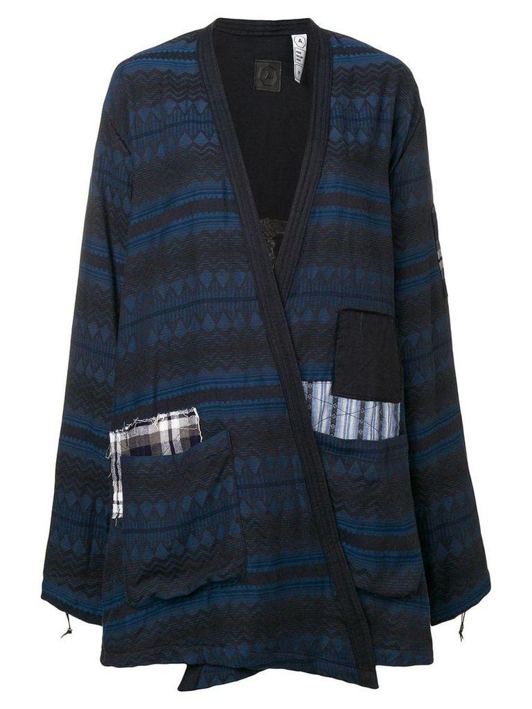 Alchemist patchwork crossover jacket - Blue
