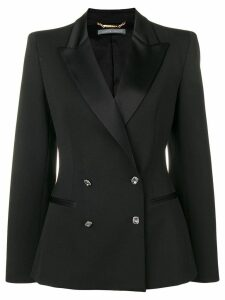 Alberta Ferretti fitted double breasted blazer - Black