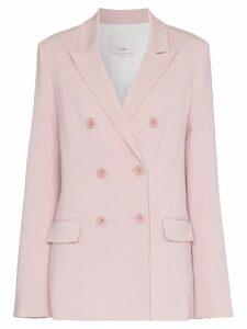 Tibi steward double-breasted blazer - Pink