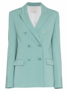 Tibi Steward Double Breasted Blazer - Blue