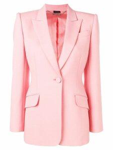 Alexander McQueen structured blazer - Pink