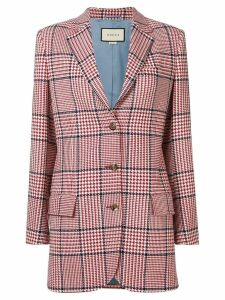Gucci houndstooth check blazer - Red