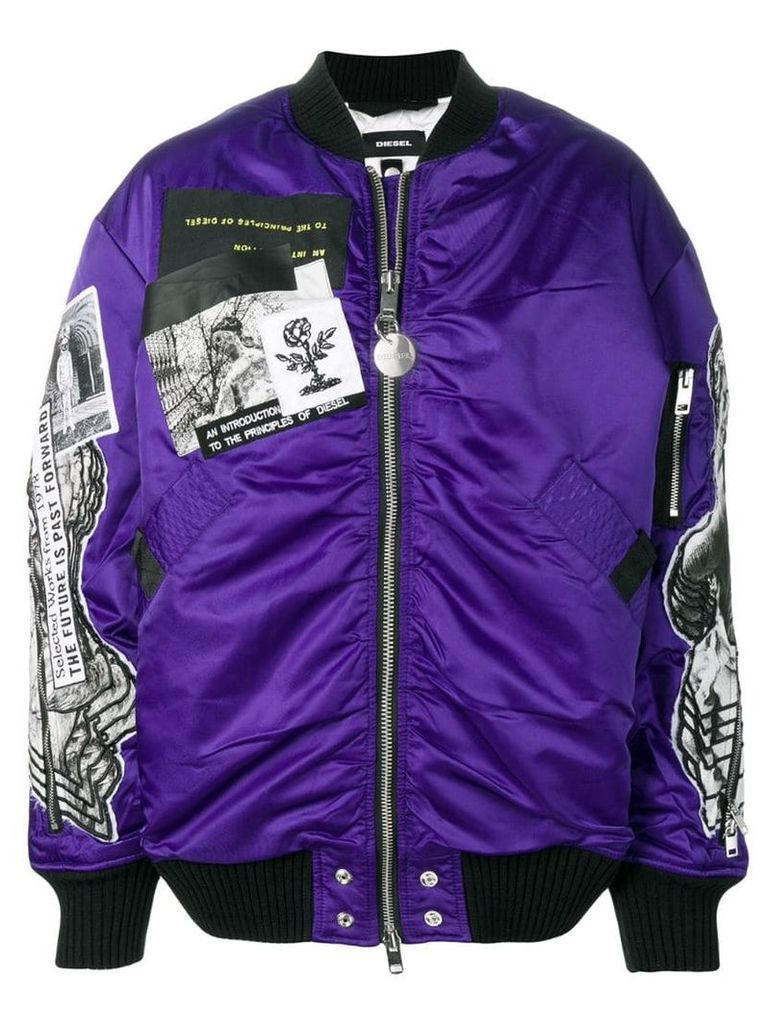 Diesel oversized bomber jacket - Purple