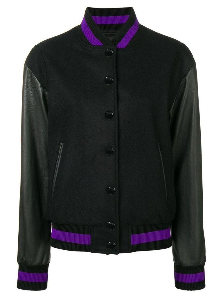 Versus embroidered bomber jacket - Black