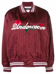 UNDERCOVER satin bomber jacket - Red