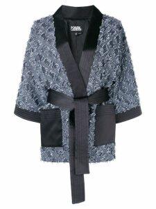 Karl Lagerfeld jacquard kimono jacket - Blue