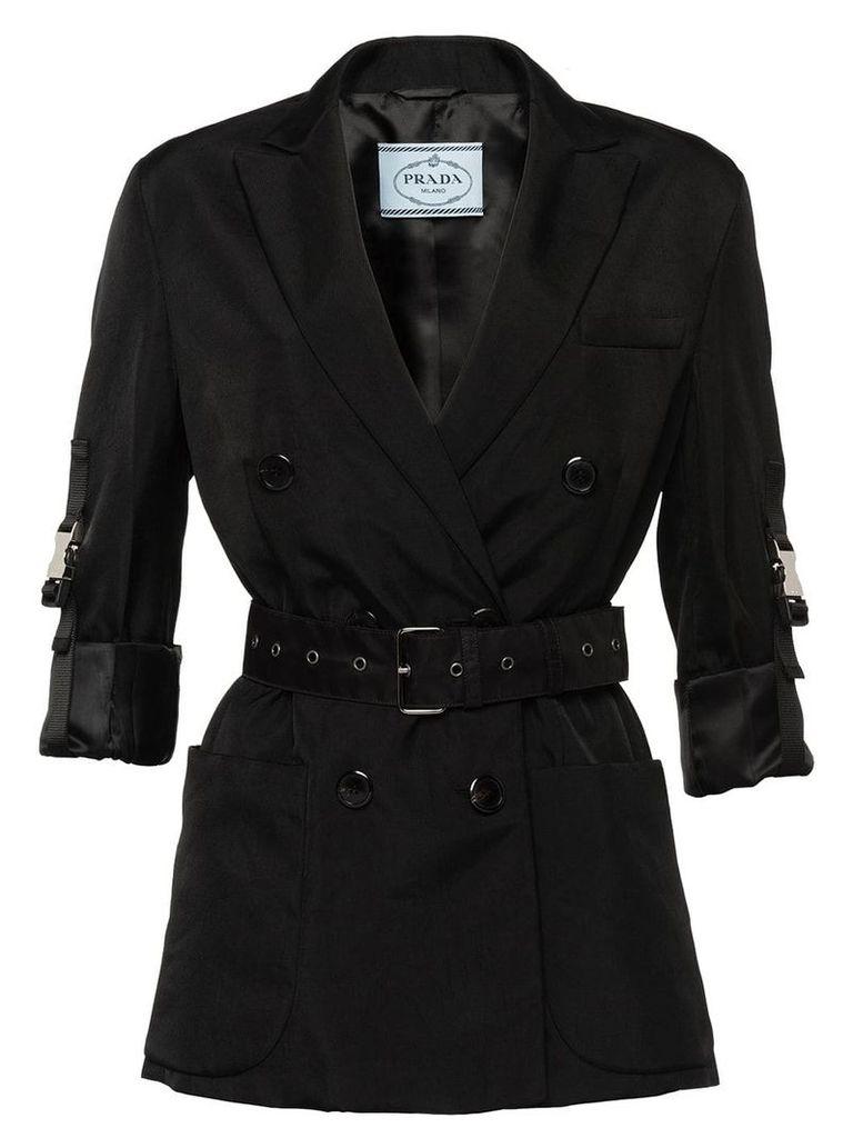 Prada technical twill jacket - Black
