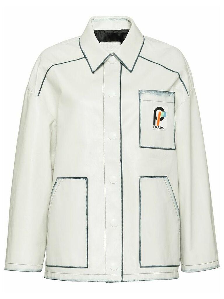 Prada contrasting panel jacket - White