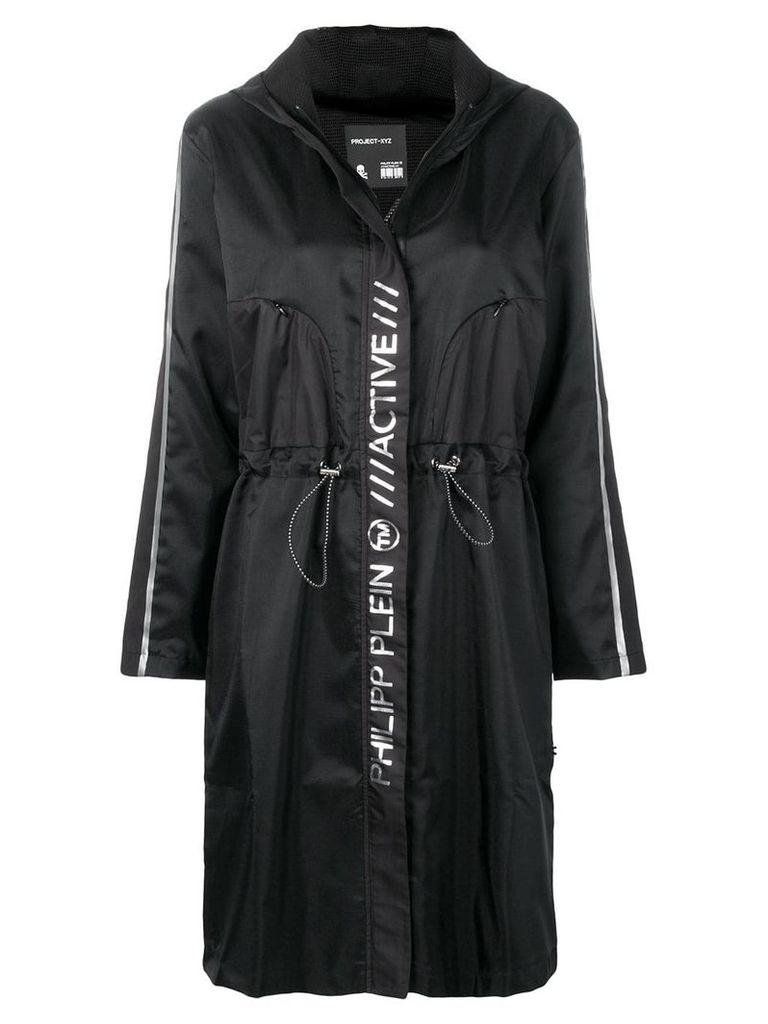 Philipp Plein long windbreaker jacket - Black