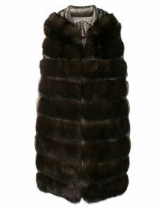 Liska padded fur waistcoat - Brown