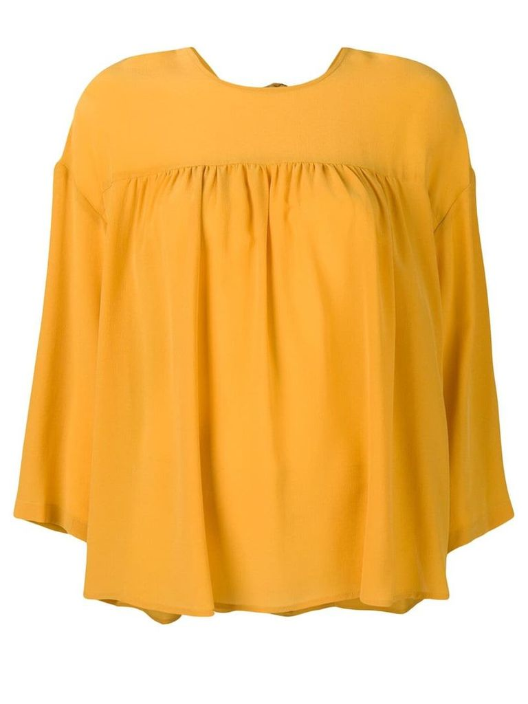 Semicouture pleated detail blouse - Yellow