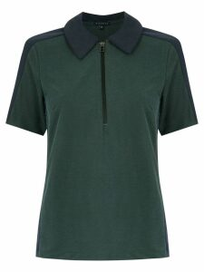 Alcaçuz panelled Faceta blouse - Green