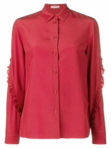Bottega Veneta ruffled sleeve shirt - Red