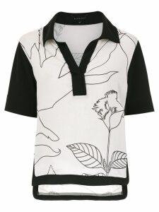 Alcaçuz printed Firenzo blouse - Black