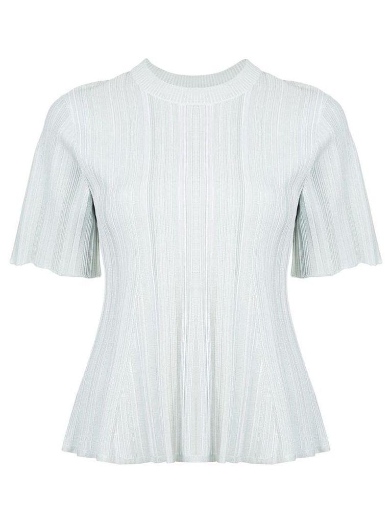 Proenza Schouler Plissé Knit Top - White
