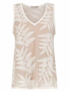 Alcaçuz embroidered Florida blouse - Neutrals