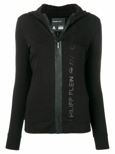 Philipp Plein logo printed hoodie - Black