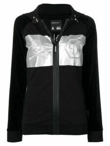 Philipp Plein metallic print hoodie - Black