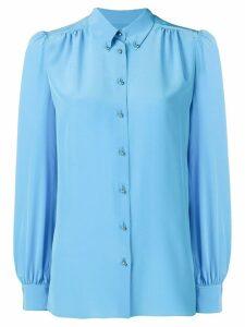 Emilio Pucci Turquoise Silk Button-Down Shirt - Blue