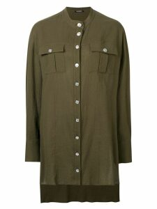 Balmain oversized longline shirt - Green