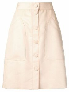 Bottega Veneta buttoned velvet skirt - Neutrals