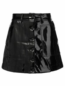 Proenza Schouler PSWL Vinyl Mini Skirt - Black
