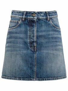 Prada vintage denim mini skirt - Blue
