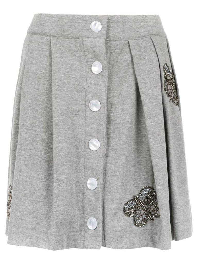 Andrea Bogosian embroidered sweatskirt - Grey