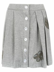 Andrea Bogosian embroidered sweatskirt - Grey