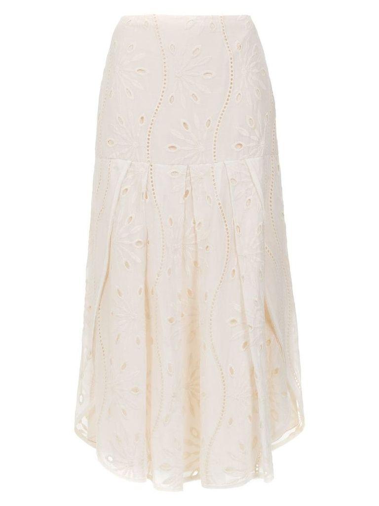 Alcaçuz Ferradura skirt - White