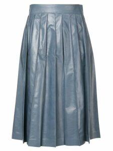 Bottega Veneta varnished full skirt - Blue