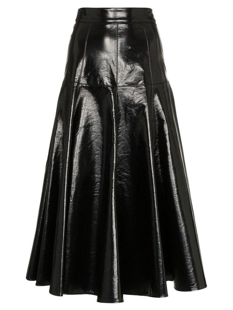 MSGM Flared PVC Skirt - Black