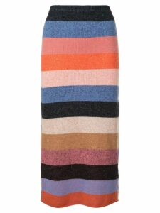 The Elder Statesman knitted striped skirt - Multicolour