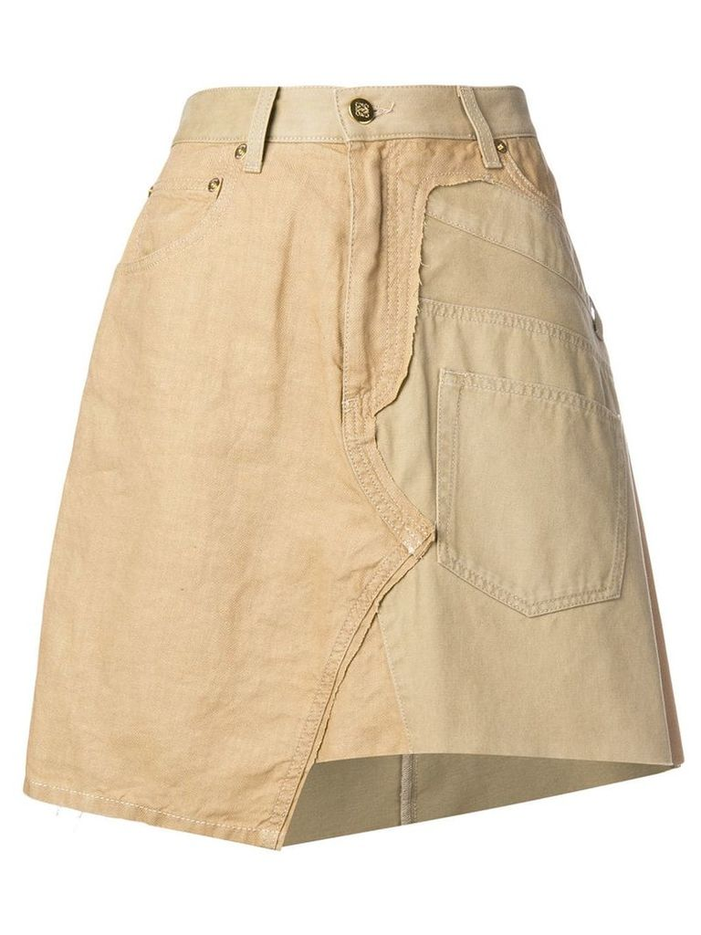 Loewe asymmetric A-line skirt - Brown