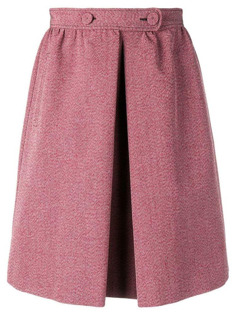 Bottega Veneta melange a-line skirt - Red